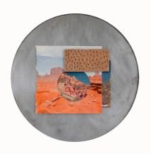 Stoneware, found images, steel. 2017