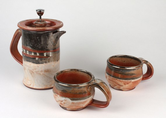"Joe Hicks, ""Coffee Press and Mug Set"""