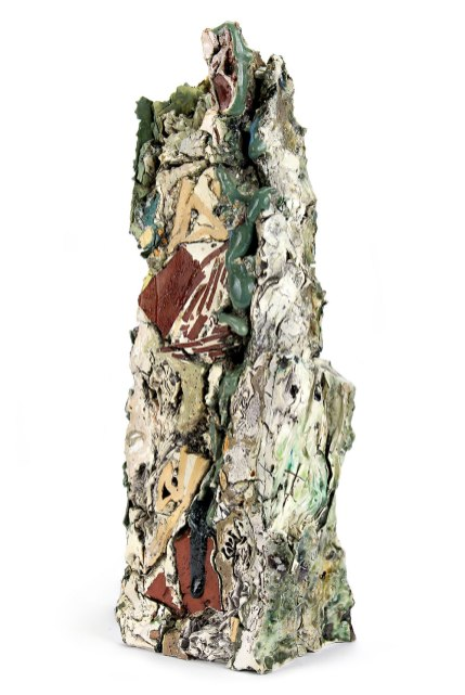 2015, Various reclaimed ceramic materials; 16.25″ x 6″ x 5.25″