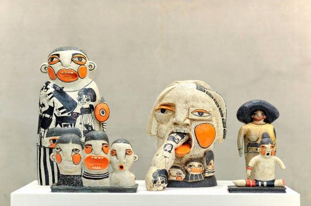 100 X 50 X 55cm, Chamotte clay, high-firing glaze, decal, Handbuild, 2013