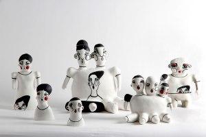 50 X 100 X 32cm, Porcelain, high-firing glaze, underglaze, Handbuild, 2015