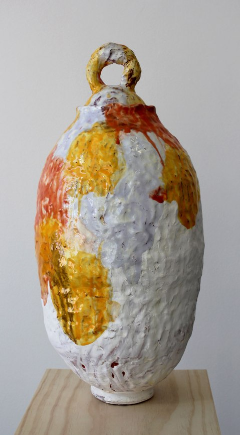 terra cotta, slip, glaze, 20 in x 9 in x 9 in, 2012