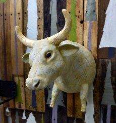ceramic, wood, latex, paint, steel, 1.5'x5'x3', 2012