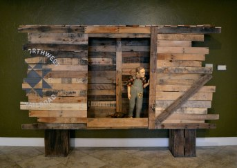 ceramic, wood, latex, paint, fabric, train recordings, 3'x5'x7', 2012