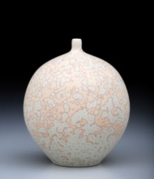 Porcelain, Cone 10 Oxidation, Matte Crystalline Glaze, 6 inches tall