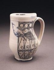 "porcelain, thrown and altered, cone 6 soda firing neutral environment, 3""x 4""x 5"""