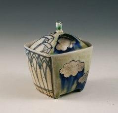 """porcelain, thrown/altered, cone 6 soda firing, 3"""" x 3"""" x 3"""" photo: Sean O'Connell"""