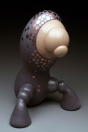 """Earthenware. Fired to cone 04. 6"""" x 5"""" x 11"""" 2009"""