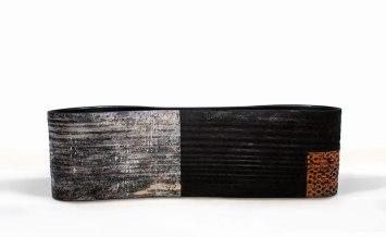 "long vessel, stoneware, 12 x 12.5 x 10.5"" 2013"