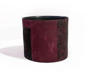 "stoneware bucket vessel, 11.5 x 10 x 10"""