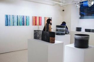 """stoneware vessels, 21.5 x 5 x 8"""" 2014"""