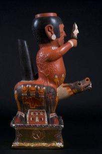 "33""h x 19.3""d x 10.45""w. 84h x 49d x 26.5w cm. Mask, sword, pedestal are removable. 2012"