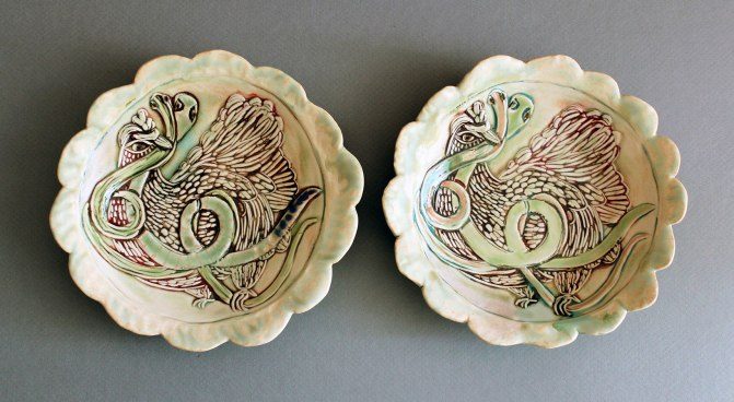 "Porcelain, 2014, 9"" diameter"