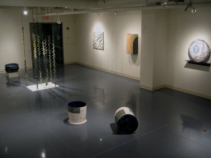 Installation view, Translations, 2010, Clay, glaze, and steel