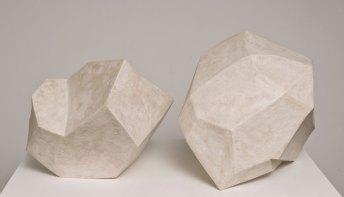 """White Shapes, 2010, Clay, glaze, wax. 32""""x24""""x26"""""""