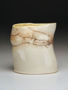 "porcelain, glaze, china paint, 3.5"" x 2.5"" x 3.5"", 2013"