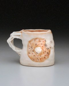 "porcelain, glaze, china paint, 4.5"" x 3.5"" x 2.5"", 2014"