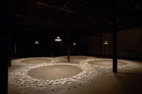 2009, porcelain, mixed media, 24'x24'x20'