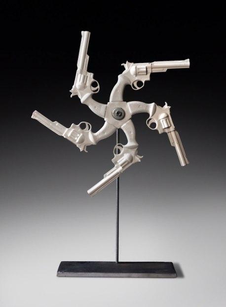 """22""""X31.5""""X13"""" Ceramic and Glaze, Steel, 2011"""