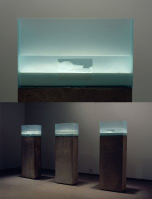 "2005, 55""x20""x10""x3 columns, salt, metal oxides, water, glass, silicone, concrete"