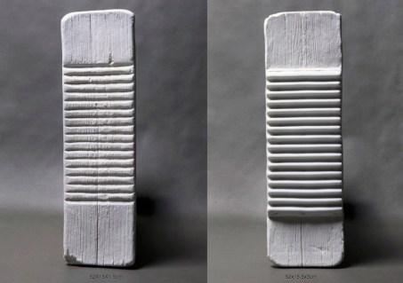 52X15x1.5cm; 52x15.5x3cm, porcelain, 2016