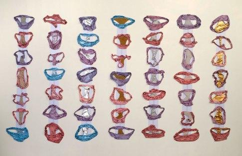 "2012, 6' x 8' x 2"", Ceramic, rhinestones, pearl, enamel, beads"