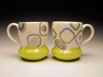"""Porcelain with decals, 4.5"""" h x 3.5"""" x 5"""" each"""