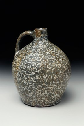 2015, native stoneware blend, stamped and carved impressions, porcelain inlay. soda and clear glazes, high fire