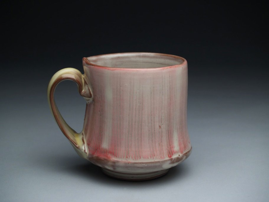 thrown and altered, earthenware, slip, glaze. 4 x 3.5 x 3.5, 2011