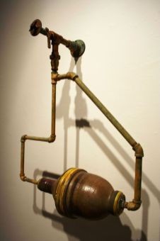 Salt-fired Stoneware, PVC, Gaskets, Rubber, Steel Fasteners, Air Filters, 34 x 18 x 18 inches, 2007