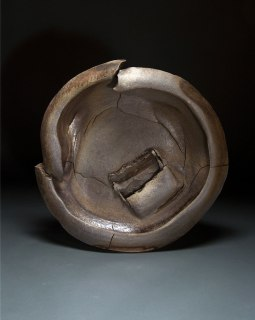 """Wood-fired stoneware, reduce cooled, 25""""x25""""x6"""""""