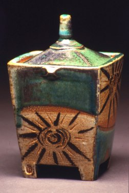 "7""x4""x4"", soda/ salt fired stoneware"