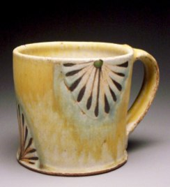 "5""x4""x4"", soda/salt fired stoneware"