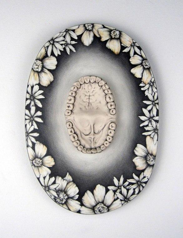 Porcelain, Underglaze, Drawing on Wood, 2013