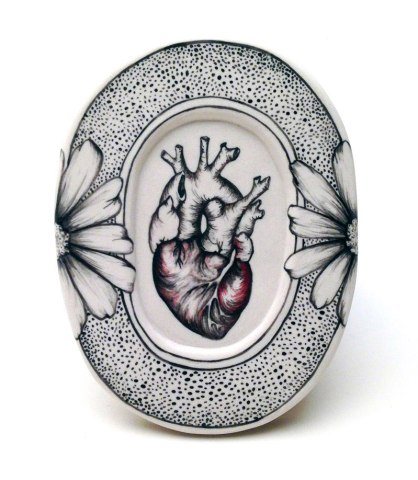 Porcelain, Underglaze, 2013