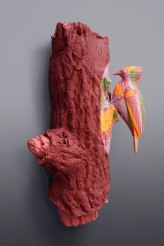 Earthenware, low-fire glazes Ceramic Sculpture, 19 x 8 x 11 inches, 2013