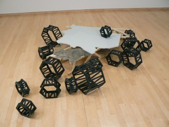"""19"""" H, Dimensions Variable, Glazed Extruded & Assembled Ceramic, Painted Drywall, Mixed Media, 2011"""