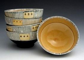 """4""""h x 4.5""""w x 4.5""""d, soda fired porcelain, cone 10, 2007"""