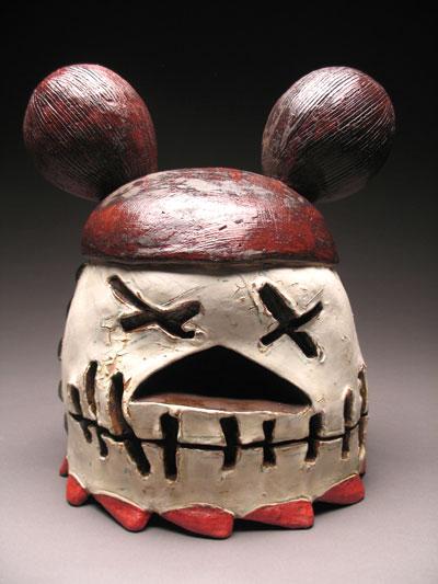 Mickey, 18x13x11, terra cotta, glaze, 2008