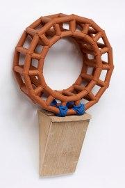 Stoneware, Nylon Rope, Brazilian Crate Wood, 20″hx12″wx7″d 2016