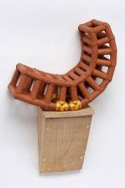 Stoneware, Nylon Twine, Brazilian Crate Wood, 18″hx13″wx7″d 2016