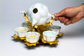 Porcelain – Acrylic, Slipcast -Lasercut