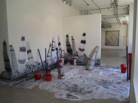 paper, vellum, wheat paste, aluminum flashing, duct tape, plastic, 2011