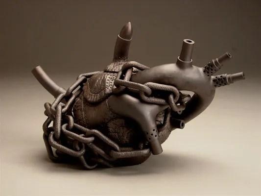 "stoneware, lustre, 7"" x 12 1/4"" x 6"", 2006"