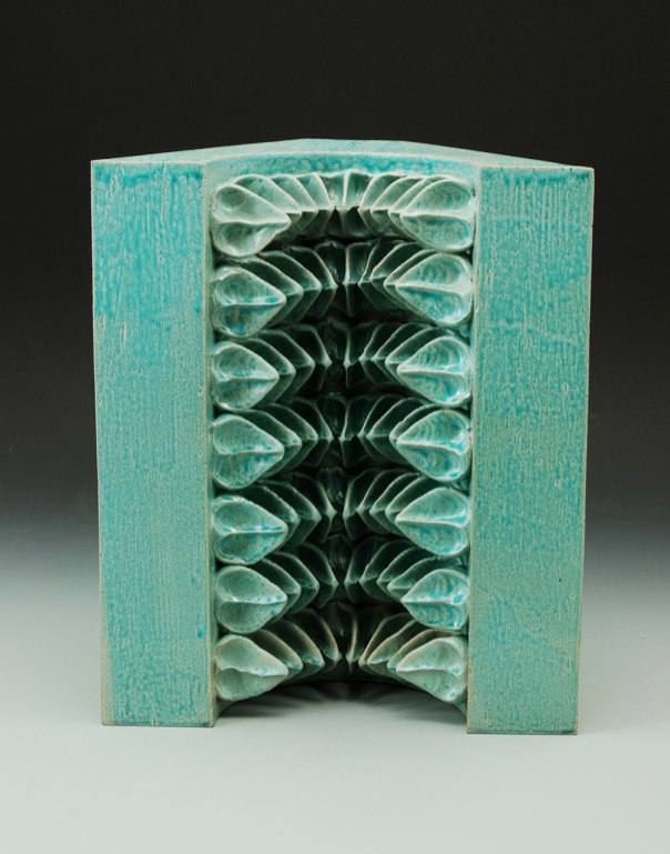 pinch/slab-formed glazed stoneware – c1 ox – 14 x 11 x 7 - 2013