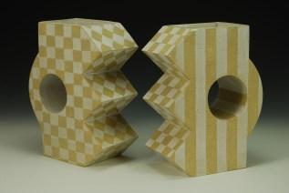 slab-formed glazed stoneware - c6 ox – 11 x 7 x 4 - 2017