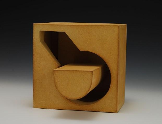 slab-formed copper-fumed stoneware - c6 ox – 7 x 7 x 5 - 2017