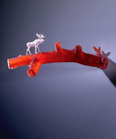 "Jeffrey Mongrain, ""Pierced Moose with Branch"""