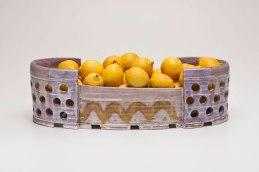 """Lemon Barge, 21"""" x 7"""" x 7"""", Earthenware, Lemons, 2011"""