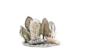 2014, 6'' x 5'' x 3'', Ceramic, glazed quartz, epoxy putty